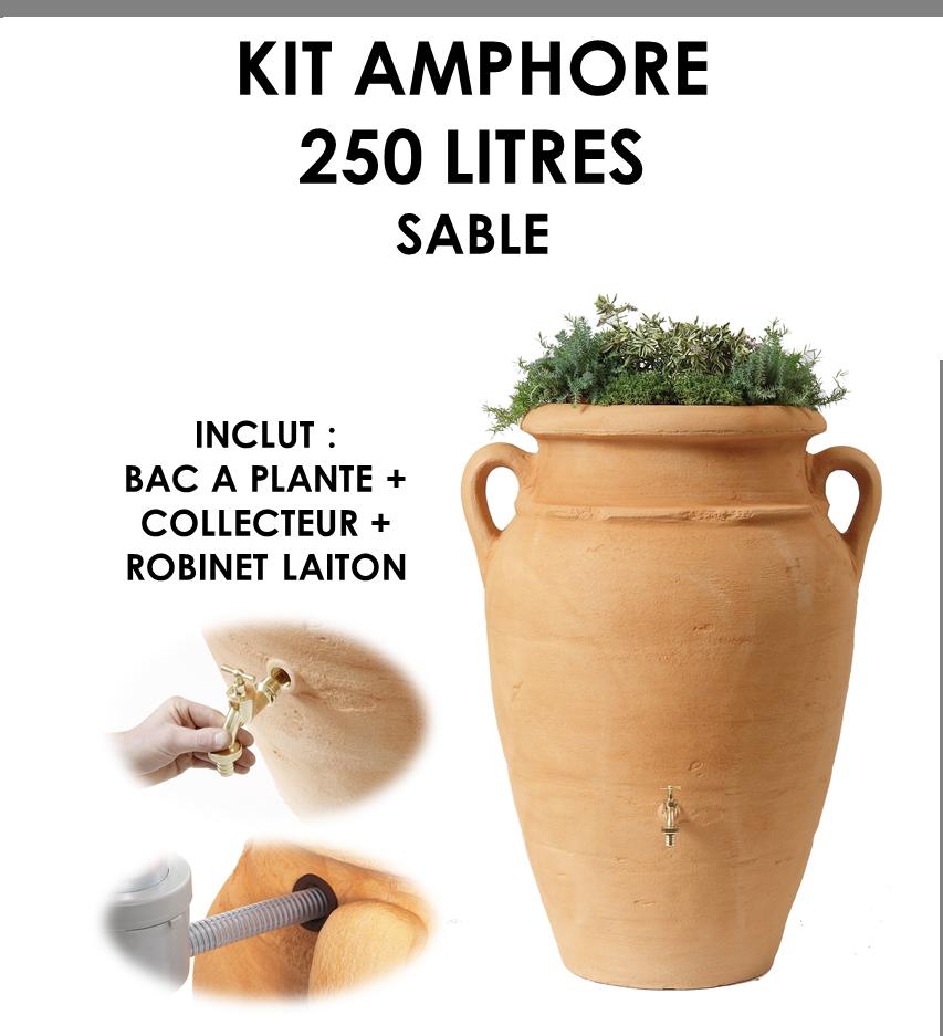 Kit amphore ANTIK SABLE 250 litres-01