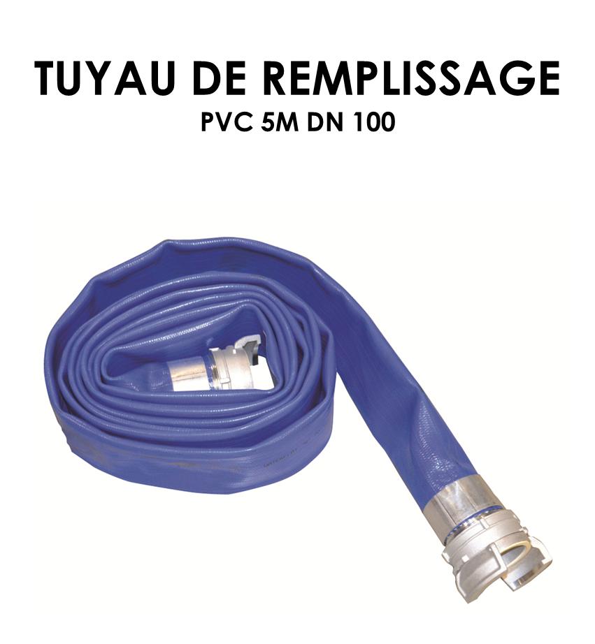 Tuyaux de remplissage PVC 5m DN 100-01