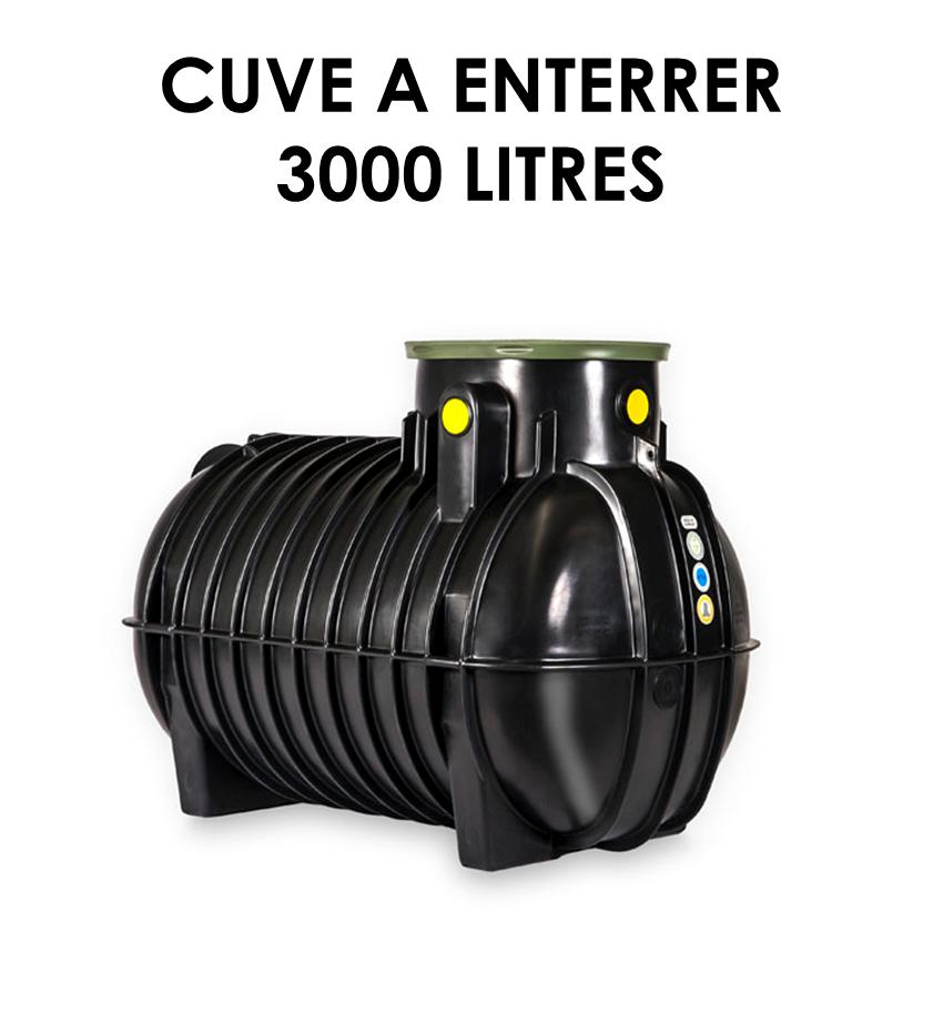 Réservoir de récupération d'eau de pluie à enterrer 3000 litres-01