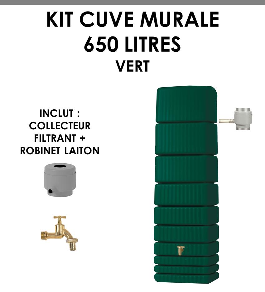 Kit cuve murale slim 650 litres Vert-01