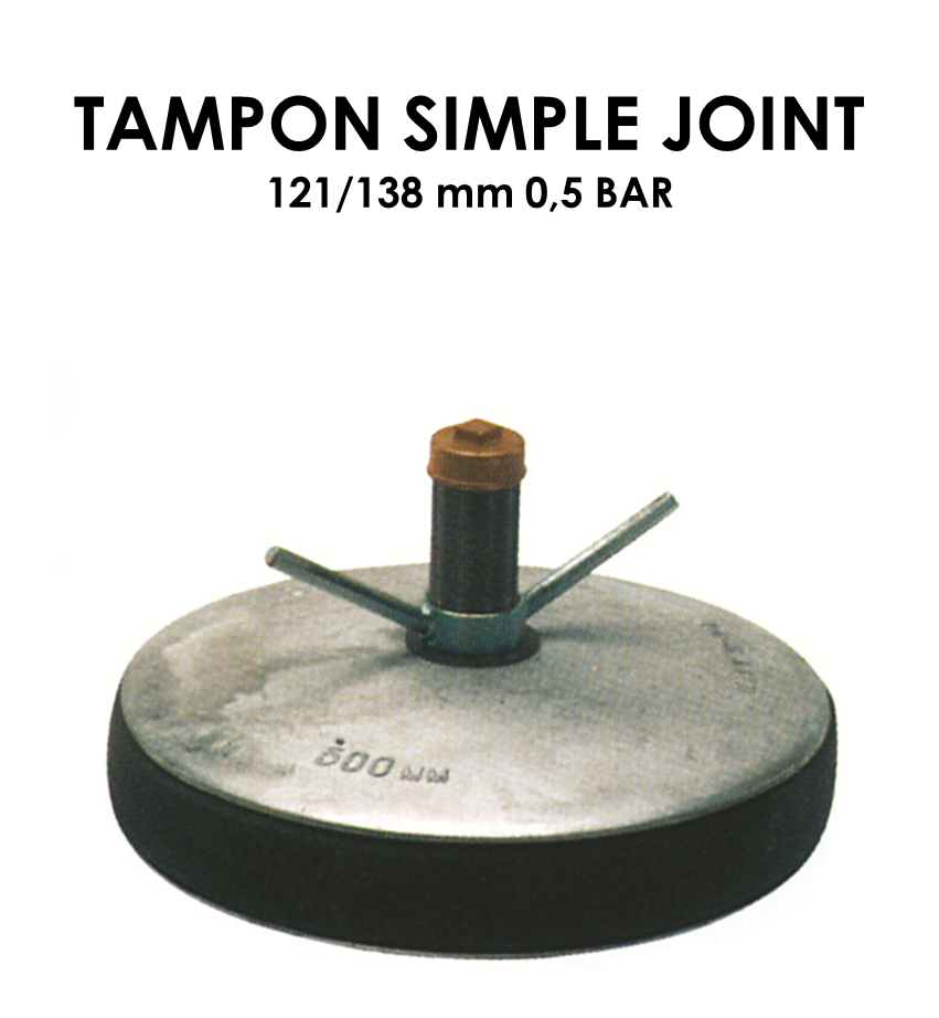 Tampon simple joint diamètre 121/138mm 0,5 bar-01