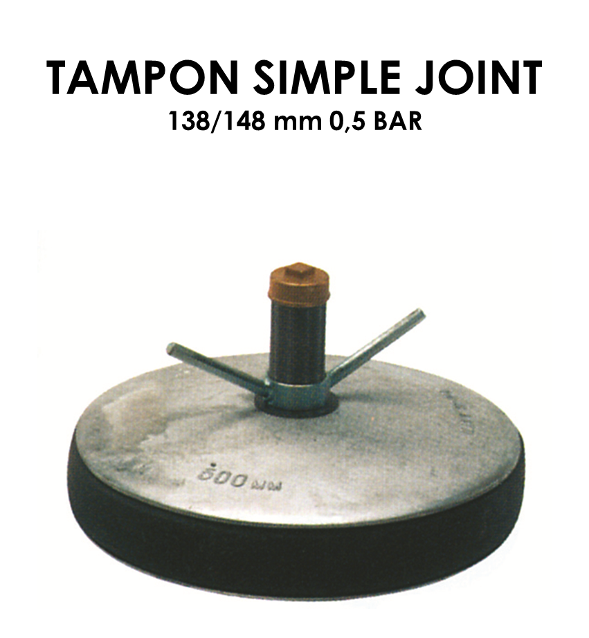 Tampon simple joint diamètre 138/148mm 0,5 bar-01