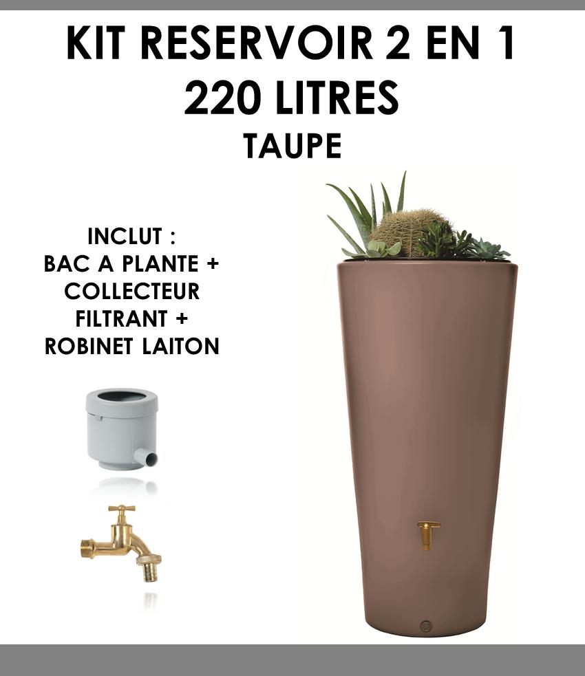 Kit reservoir 2 en 1 VASO 220 litres taupe-01