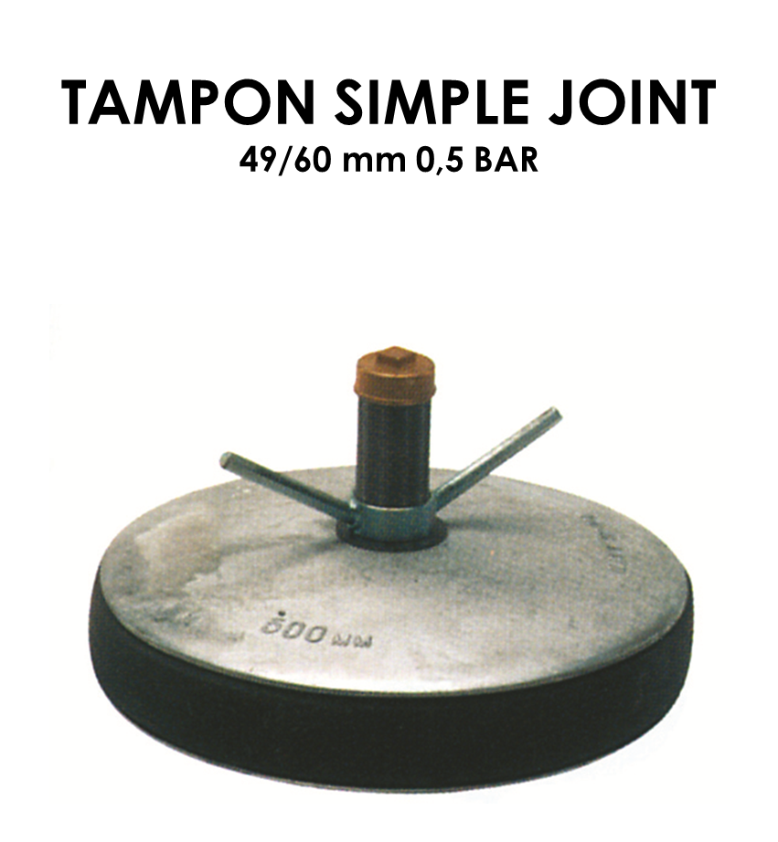 Tampon simple joint diamètre 49/60mm 0,5 bar-01