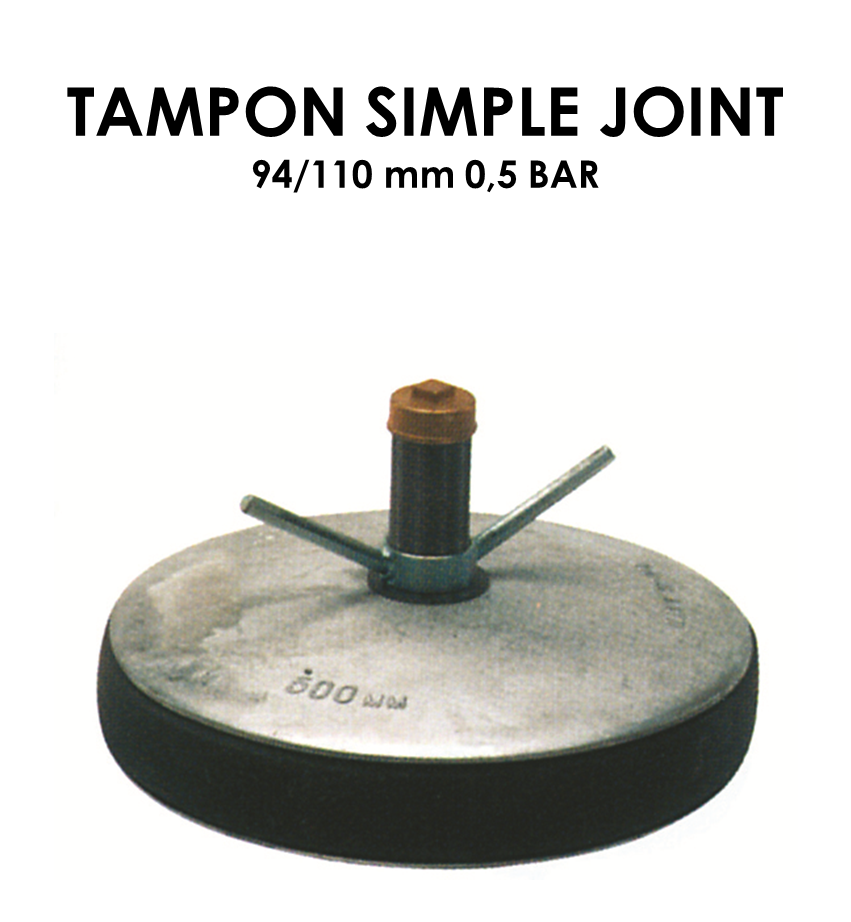 Tampon simple joint diamètre 94/110mm 0,5 bar-01