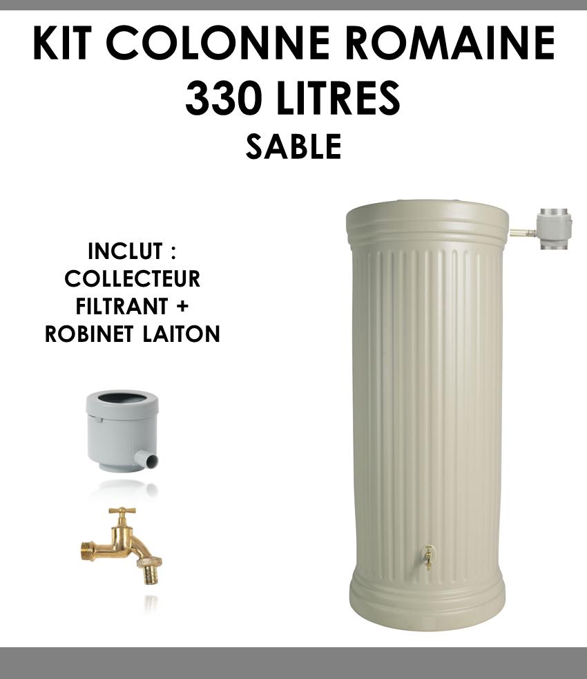 Kit colonne romaine sable 330 litres-01