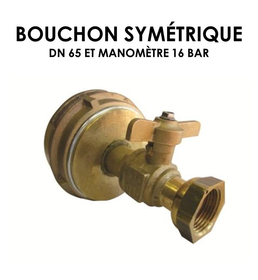 Bouchon symétrique DN 65 équipé manomètre 16 bar-01